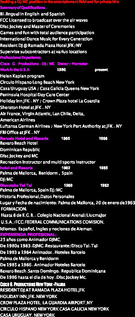 Disc Jockey Resume | Resume CV Cover Letter